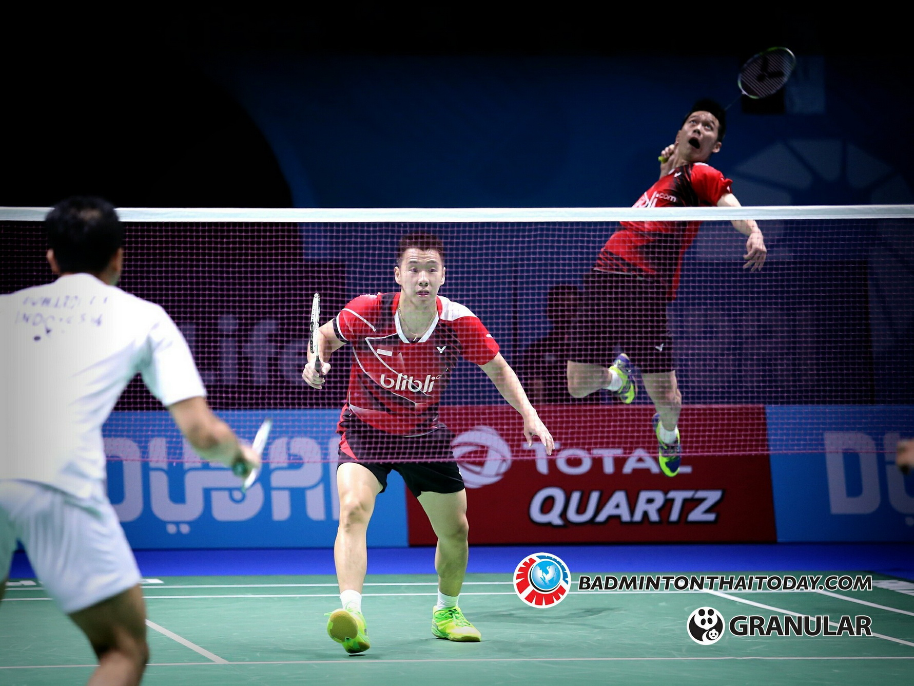 Marcus Fernaldi Gideon - Kevin Sanjaya Sukamuljo @ Dubai World Superseries Final 2016 รูปภาพกีฬาแบดมินตัน