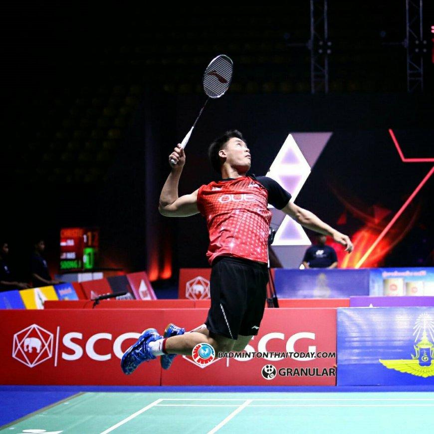 ภนุ่มสาวจีน งัดพลังตบเอาชนะคู่มือ1จากสิงคโปร์ 2 0 เกม Badminton